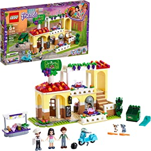 LEGO Friends Heartlake City Restaurant 41379 Restaurant Playset with Mini Dolls and Toy Scooter for Pretend Play, Cool Building Kit Includes Toy Kitchen, Pizza Oven and More, New 2019 (624 Pieces)