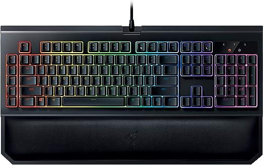 Razer BlackWidow Chroma V2: Esports Gaming Keyboard - Ergonomic Wrist Rest - 5 Dedicated Macro Keys - Razer Green Mechanical Switches (Tactile and Clicky)