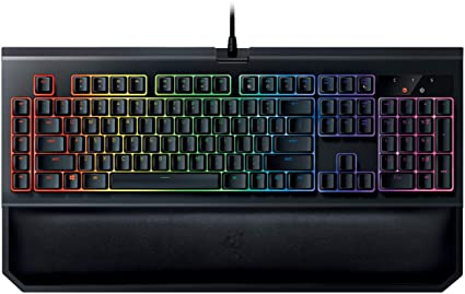 Razer BlackWidow Chroma V2: Esports Gaming Keyboard - Ergonomic Wrist Rest  - 5 Dedicated Macro Keys - Razer Green Mechanical Switches (Tactile and