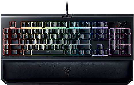 Razer BlackWidow Chroma V2: Esports Gaming Keyboard - Ergonomic Wrist Rest  - 5 Dedicated Macro Keys - Razer Green Mechanical Switches (Tactile and