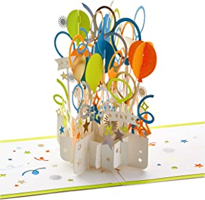Hallmark Signature Paper Wonder Pop Up Congratulations Card or Birthday Card (Celebrate)