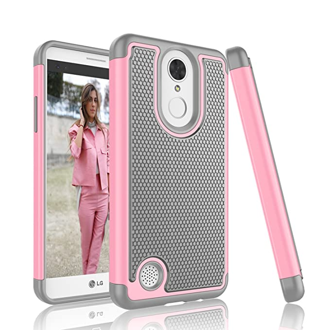 best loved ee392 4224a LG K4 2017 Case, LG Fortune Case, LG Phoenix 3 Case, Tinysaturn [YSaturn  Series] [Fresh Pink] Shock Absorbing Rubber Plastic Scratch-Proof Armor ...