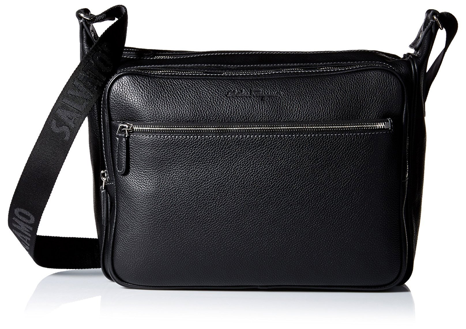 Salvatore Ferragamo Men's Manhattan Shoulder Bag, Nero
