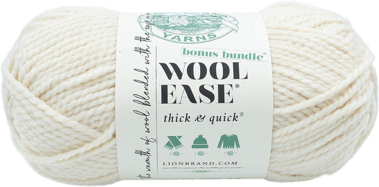 Lion Brand Yarn 641-099 Wool-Ease Thick & Quick Bonus Bundle Yarn, Fisherman
