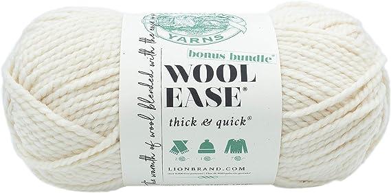 1 skein Navy Lion Brand Yarn 122-110 Thick /& Quick Bonus Bundle Yarn