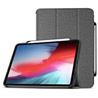 ProCase iPad Pro 12.9 2018 Smart Case, Slim Folio Stand Case Protective Cover for Apple iPad Pro 12.9 Inch 2018 Release with Apple Pencil Holder –Grey