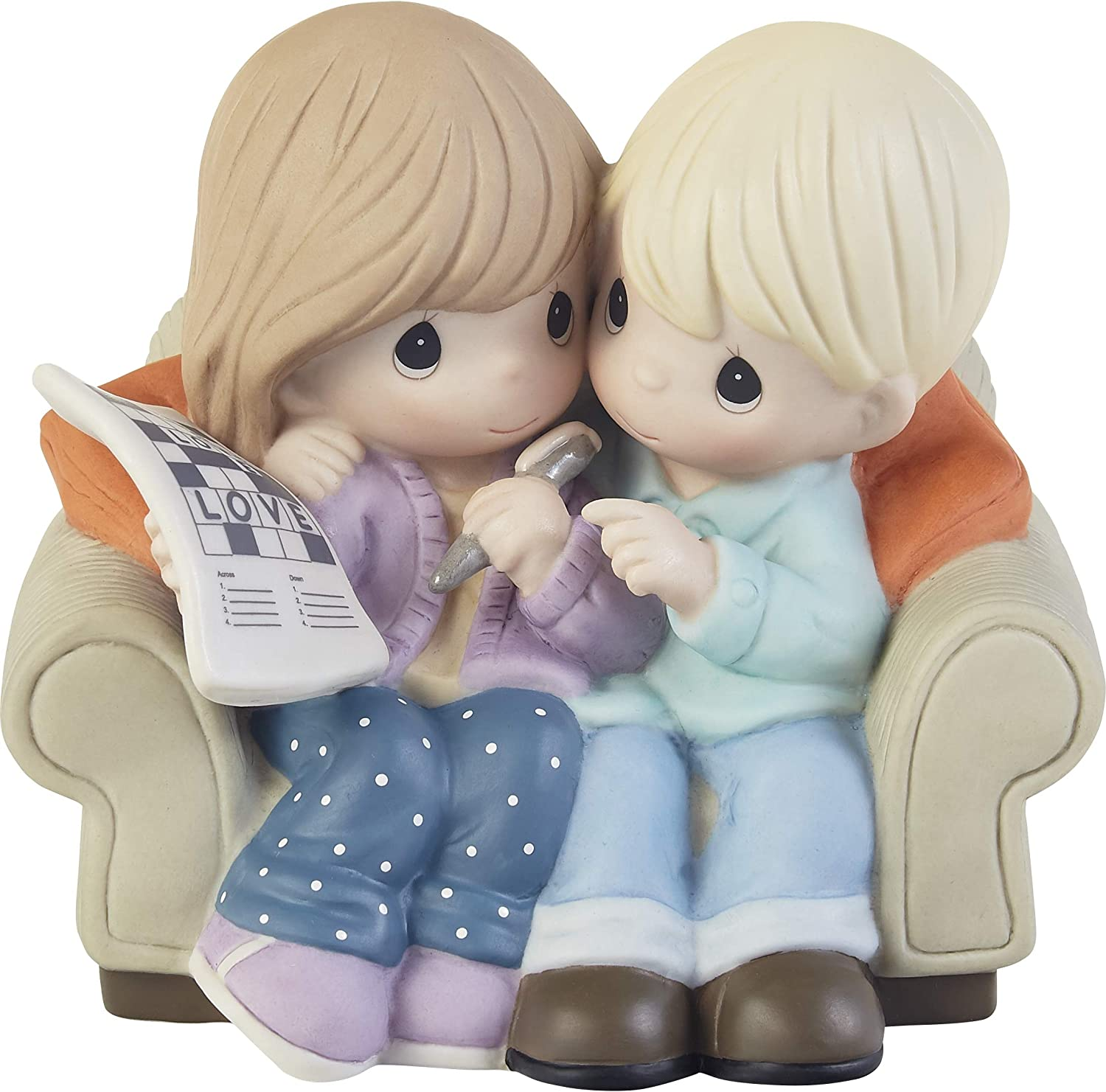 Precious Moments 203003 Love is The Answer Bisque Porcelain Figurine