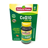 Nature Made CoQ10 200 mg, 140 Softgels Helps Supports Heart Function & Cellular Energy Production