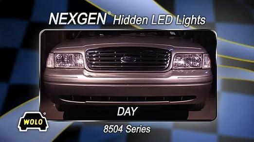 Amazon.com: Wolo (8504-12AAAA) NexGen 40 Watt Power Supply Gen 3 LED Emergency Warning Four Head Kit - 4 Amber LED Heads: Automotive