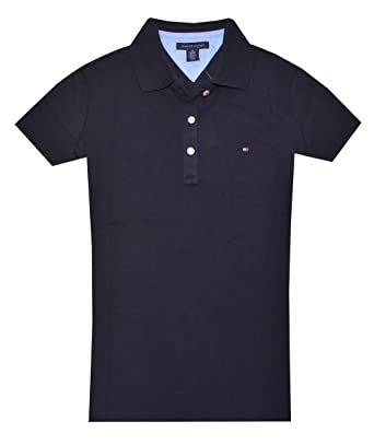 6380f36ee Tommy Hilfiger Women s Classic Fit Logo Polo T-Shirt at Amazon ...