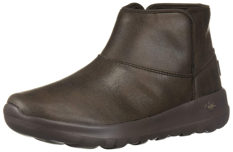 Schokoladenbraun Skechers Damen On-The-go - Harvest Kurzschaft Stiefel, Chestnut Csnt