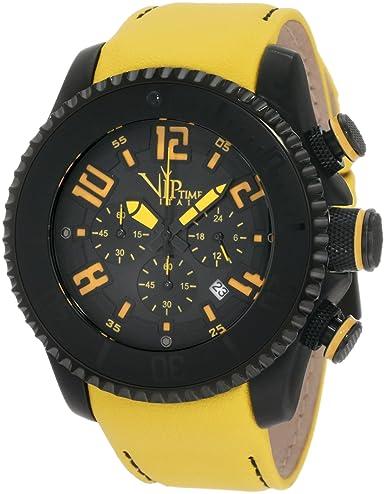 VIP TIME ITALY Reloj con Movimiento Cuarzo japonés Man VP5050YW_YW 47 mm: Amazon.es: Relojes