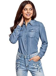 a5491913855b6 Yying Mujeres Manga Larga Camisas Vaquero - Fashion Primavera Otoño ...