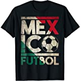 Vintage Mexico Futbol T Shirt Mexican Soccer Flag Fan Gift