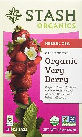 Stash Tea - Bolsas de té de hierbas orgánicas en papel de ...