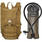 SEAL3 Tactical Hydration Pack Backpack 2.0. 900D Military-Survival-Outdoor Waterproof Pack with Pockets. Pro-Edition, Leakproof 2.5L Bladder for Men & Women- Hiking, Biking, Running & Walking