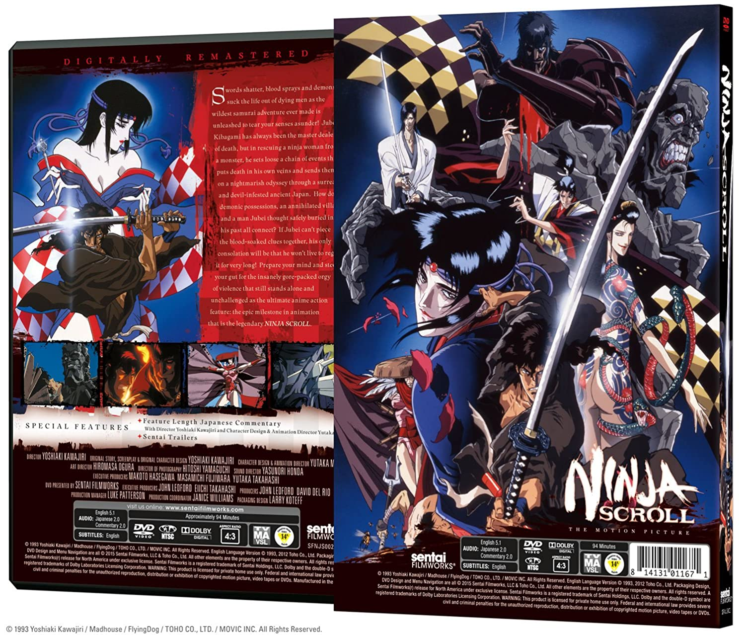 Ninja Scroll [USA] [DVD]: Amazon.es: Cine y Series TV