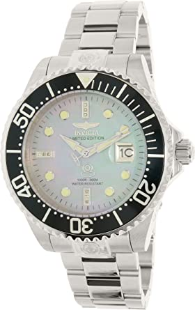 Invicta Men's 22024 Pro Diver Automatic 3 Hand Platinum Dial Watch