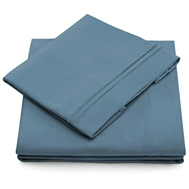 Cosy House Collection King Size Bed Sheets - Peacock Blue Luxury Sheet Set - Deep Pocket - Super Soft Hotel Bedding - Cool & Wrinkle Free - 1 Fitted, 1 Flat, 2 Pillow Cases - King Sheets - 4 Piece