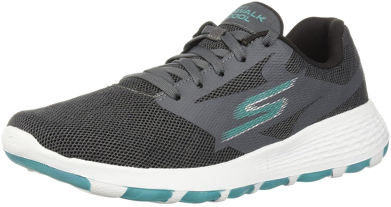 Skechers Women's Go Walk Cool-15651 Sneaker B073GBFBHX 5.5 B(M) US|Charcoal/Turquoise