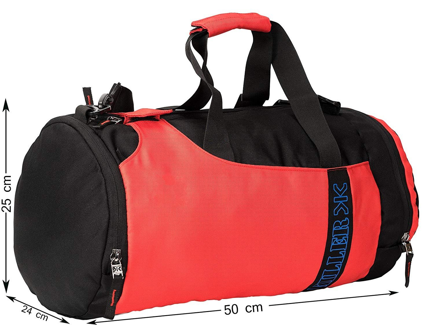 56a213652c37 KILLER Eaton 31L Red Polyester Gym Bag  Amazon.in  Bags