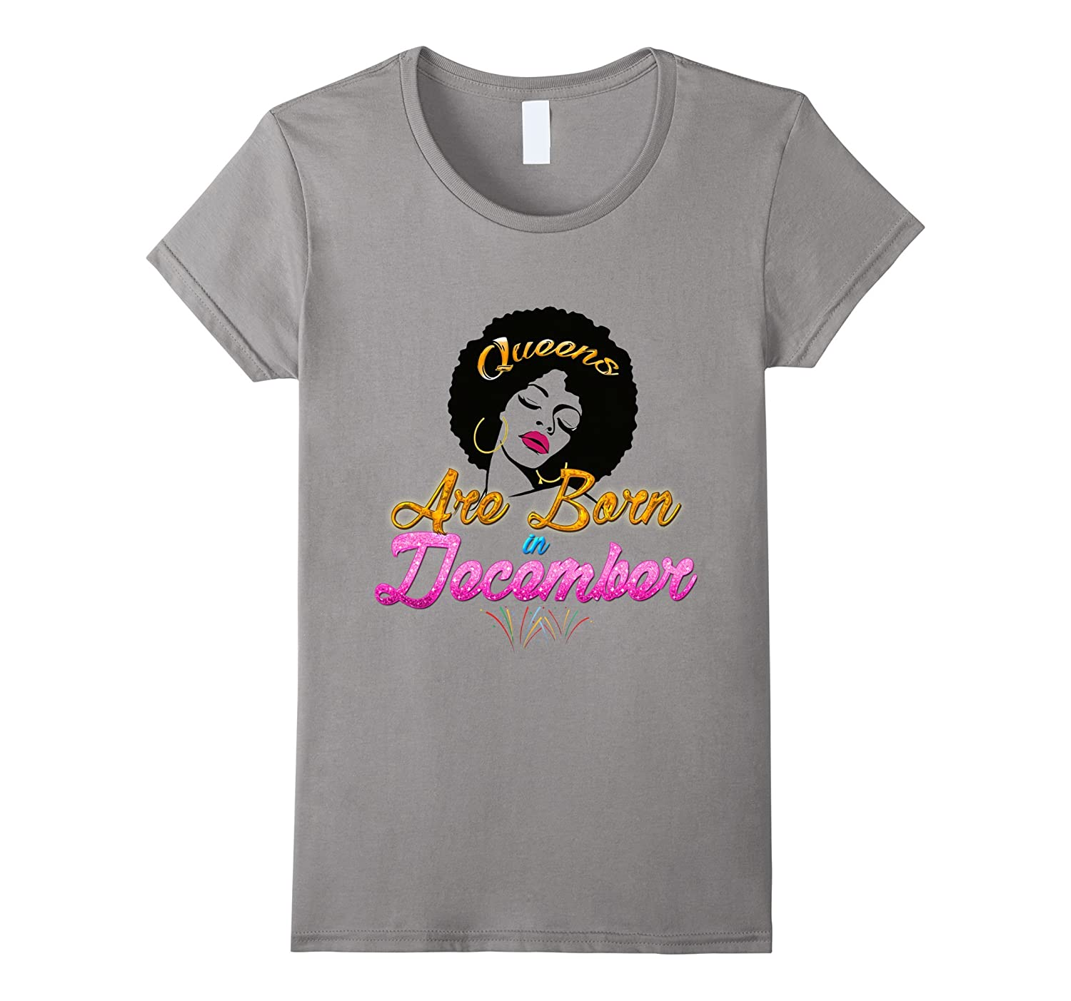Official: black queens are born in december t shirt-TH