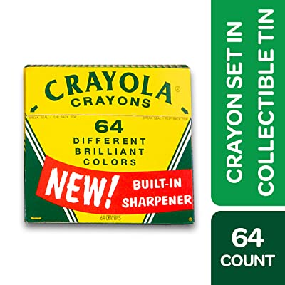 Crayola Vintage-Style Crayon Set with Collectible Tin - 64 Count: Toys & Games