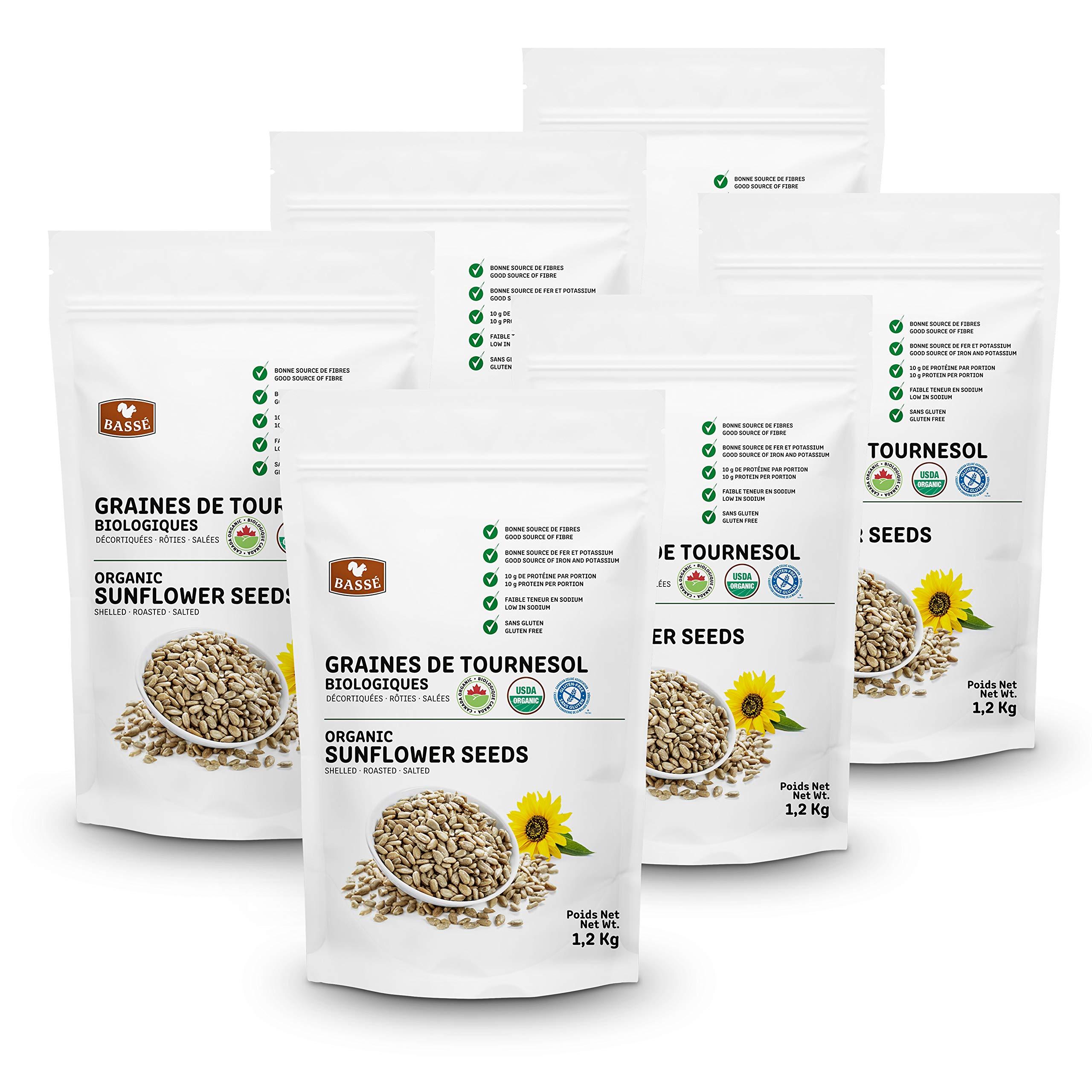 Basse Organic Sunflower Seeds, a Good Source of Fiber, Iron, and Potassium, Gluten Free – Kosher Certified 15.84 lb