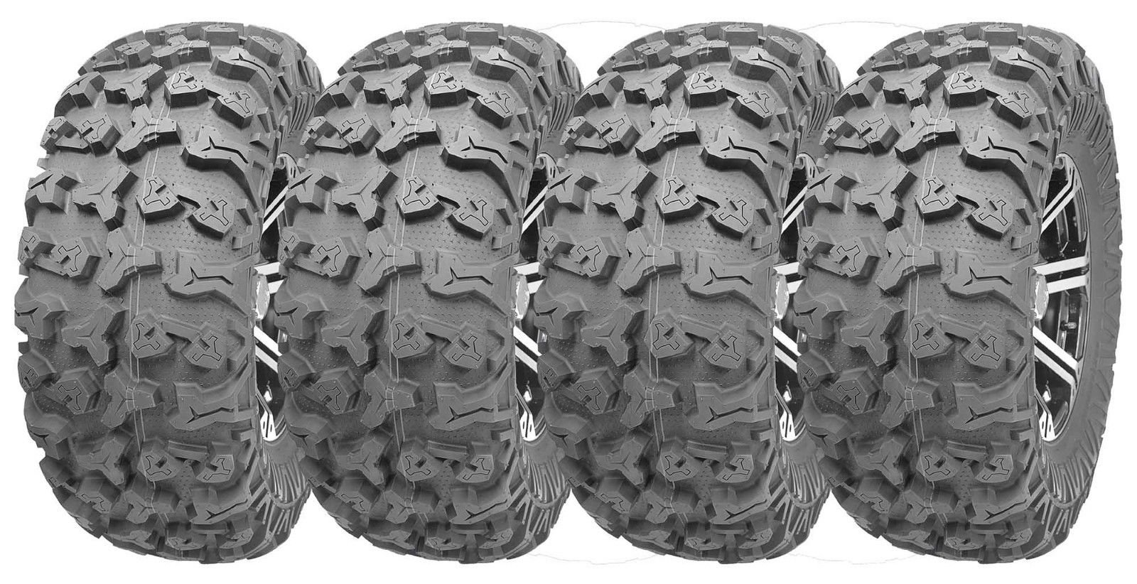 Full Set Wanda ATV/UTV Tires 27x9R14 Front 27x11R14 Rear /8PR Radial Deep Tread by Wanda (Image #1)