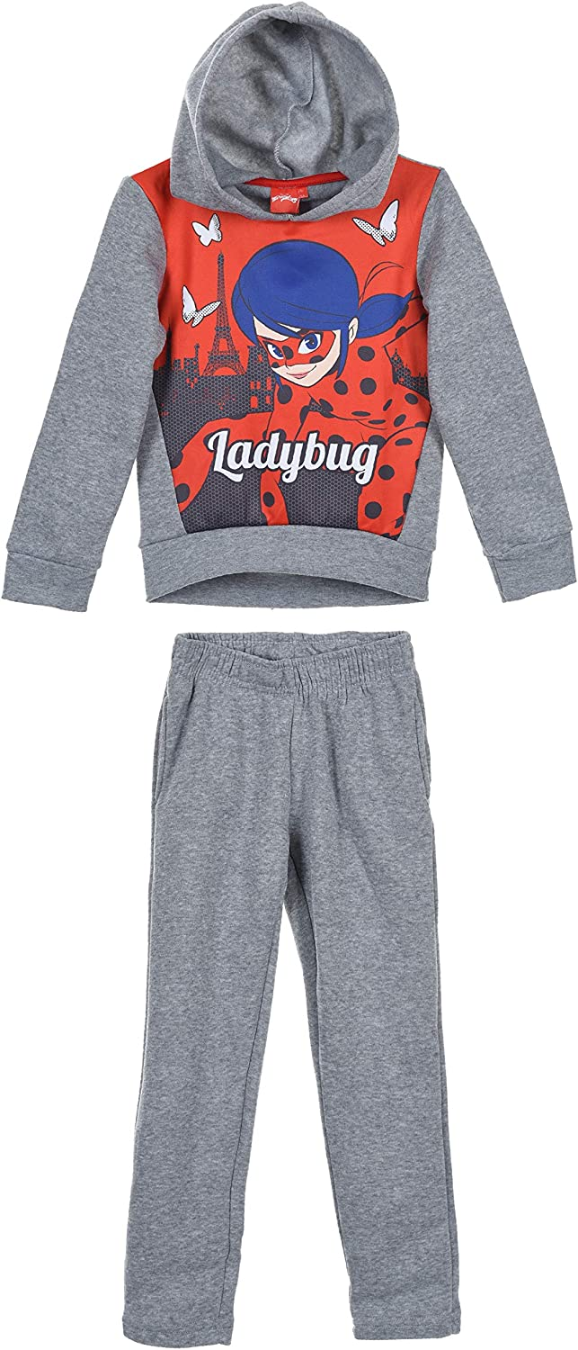 Samoja Kids Surv/êtement Fille Licence Officielle Ensemble de Sport Enfant Jogging Fille Miraculous Lady Bug