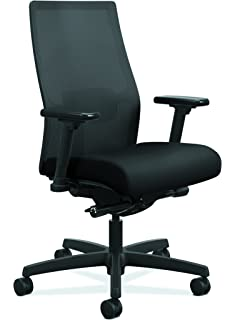Ordinaire HON Ignition 2.0 Mid Back Adjustable Lumbar Work Chair   Black Mesh  Computer Chair For