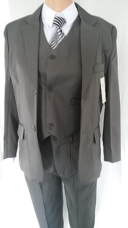 b8f1afd625f189 New Fashion Edel 5 teilige Kinder Anzug in Anthrazit für Jungen (98)