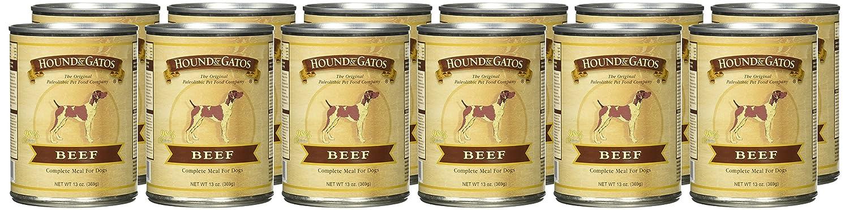 Hound & Gatos Grain Free Beef Canned Dog Food - 13 oz (12 ...