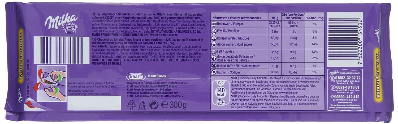 Milka - Tableta de Chocolate con Caramelo y Avellanas - 300 g ...