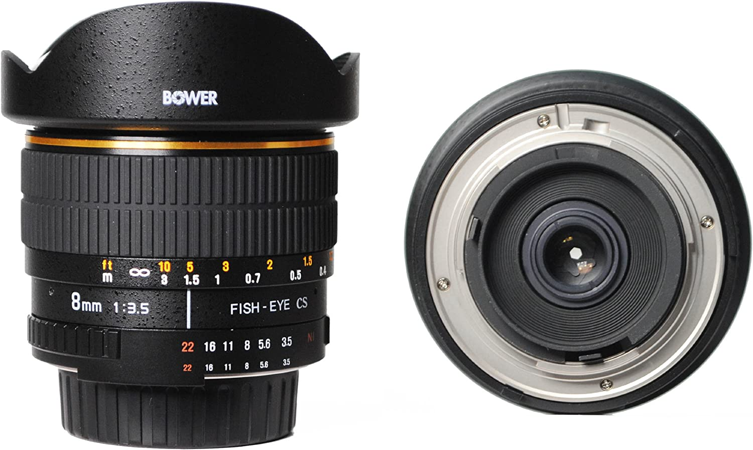 Bower SLY358P Ultra Wide-Angle 8mm f//3.5 Fisheye Lens for Pentax