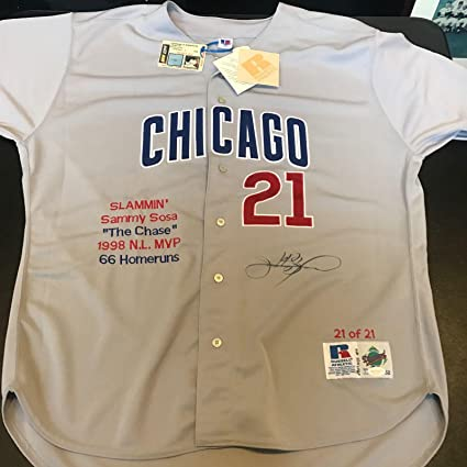 new products fe8af 6f959 Sammy Sosa Autographed Jersey - Beautiful On Field 1998 COA ...