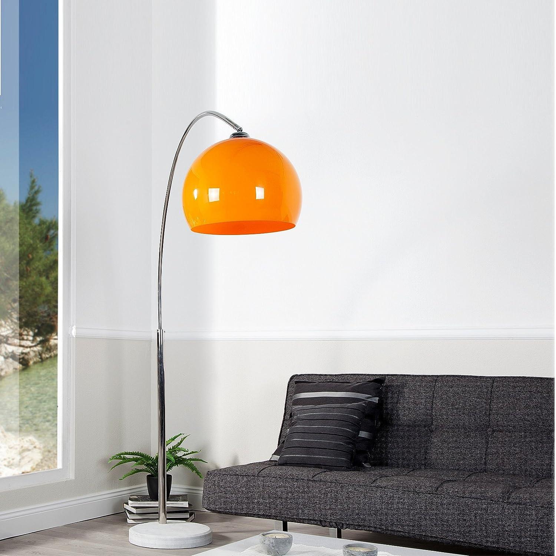 Künstlerisch Stehlampe Bogen Ideen Von Big Bow Retro Design Lampe Orange Höhenverstellbar