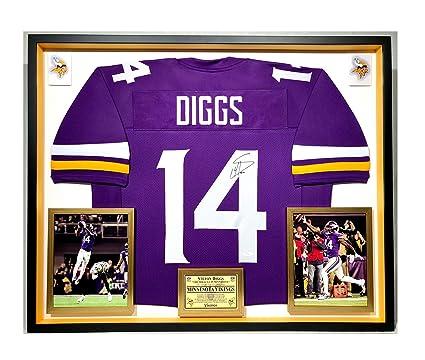 9f3ad407 Premium Framed Stefon Diggs Autographed/Signed Minnesota Vikings ...