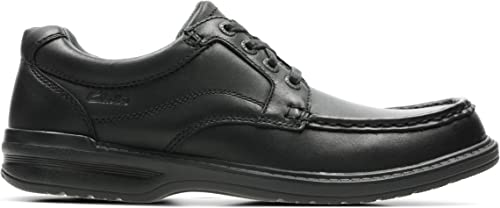 KEELER WALK MENS CLARKS LEATHER WIDE FITTING LACE UP CASUAL WORK SHOES