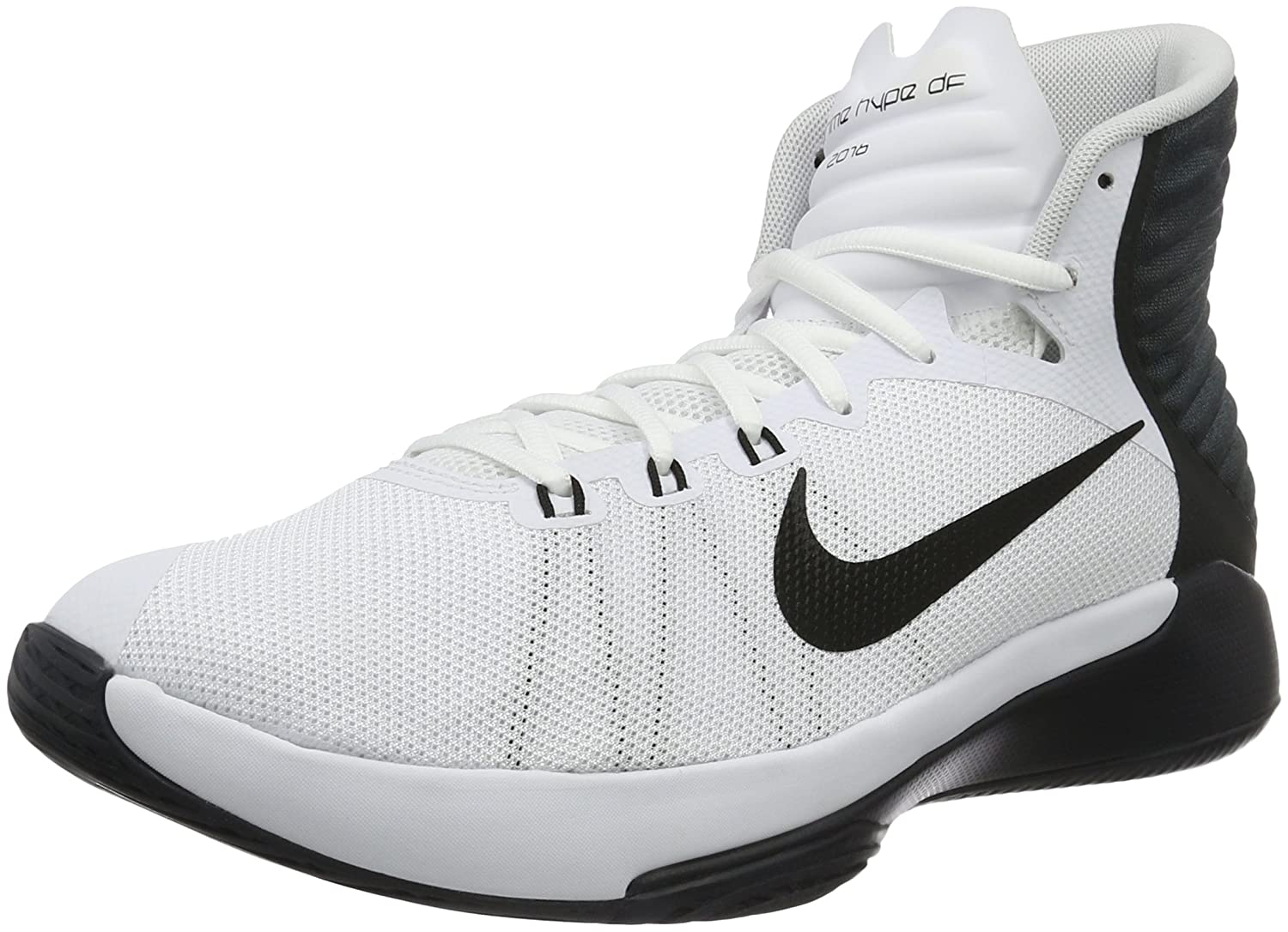 newest 29bd1 4632c Amazon.com   Nike Mens Prime Hype DF 2016 Basketball Shoes White Black Anthracite  844787-100 Size 10   Basketball