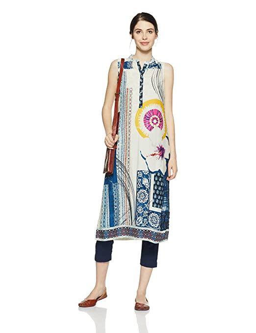 BIBA Women's Straight Kurta Kurtas & Kurtis at amazon