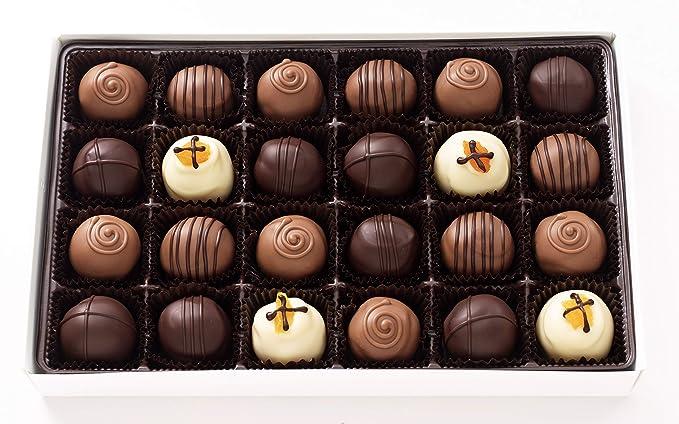 Amazon Com Vermont Nut Free Chocolates Boxed Chocolates Truffle Assortment 24 Piece Grocery Gourmet Food