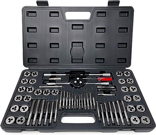 40 Pc Titanium Tap And Die Tool Set METRIC Fine Standard W// Case