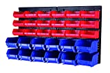 MaxWorks 80694 30-Bin Wall Mount Parts Rack/Storage for your Nuts, Bolts, Screws, Nails, Beads, Buttons, Other Small Parts