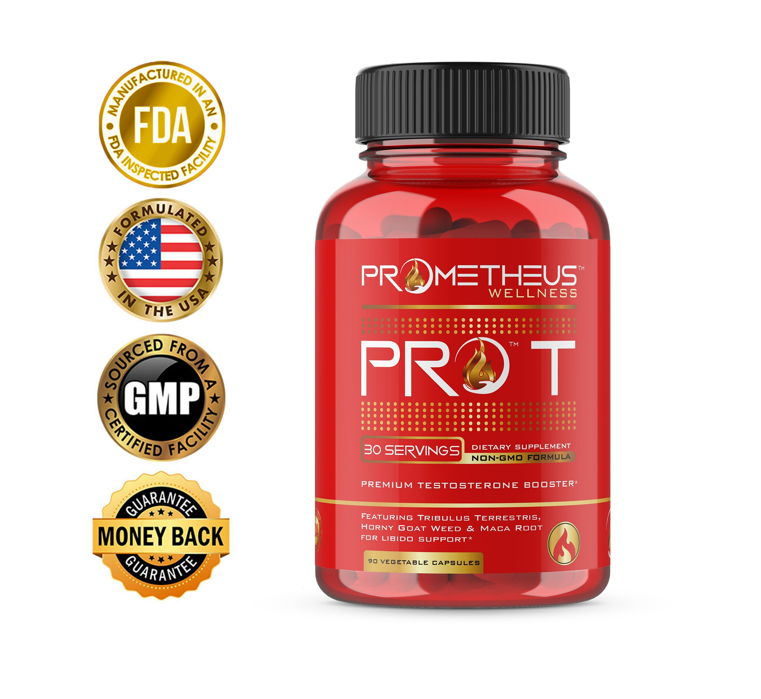 Got Low T Get PRO T Estrogen Blocker and Testosterone Booster for Men and Women Prime Muscle Growth Male Test Boost Natural Supplement Pills Capsules with Powder Strongest Safest Supplements That Work