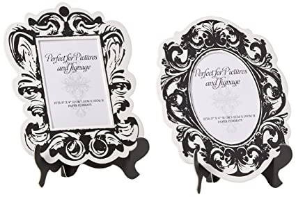 Amazon.com - Baroque Paper Frames with Table Easel - Large - Black ...