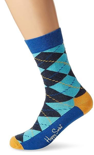 Happy Socks Argyle Sock, Calcetines para Hombre, Azul, 41-45