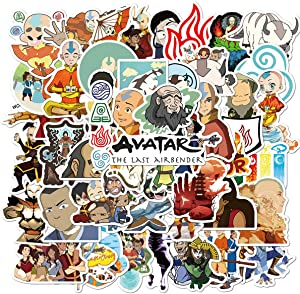 Avatar The Last Airbender Stickers 50PCSVariety Vinyl Waterproof Car Sticker Motorcycle Bicycle Luggage Decal Graffiti Patches Skateboard Stickers for Laptop Stickers (Avatar The Last Airbender)