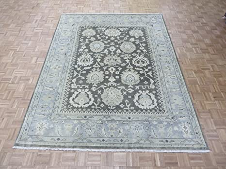 Amazon Com Oriental Rug Galaxy Oushak Brown Wool Hand Knotted