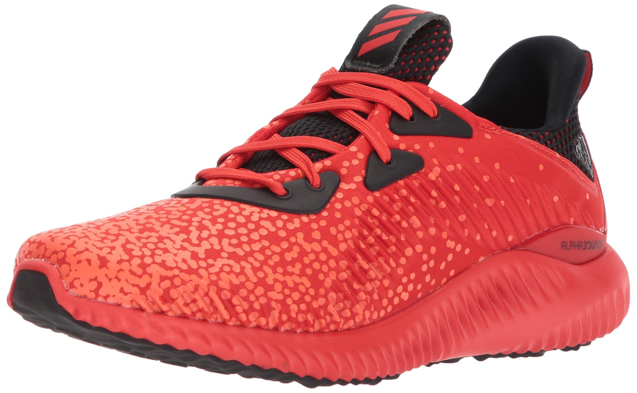 adidas Unisex-Kids Alphabounce 1 j, Core Red/Core Black/Warning, 4 Medium US Big Kid